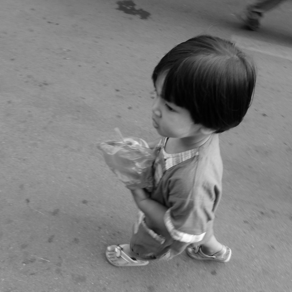 Little boy with cool haircut